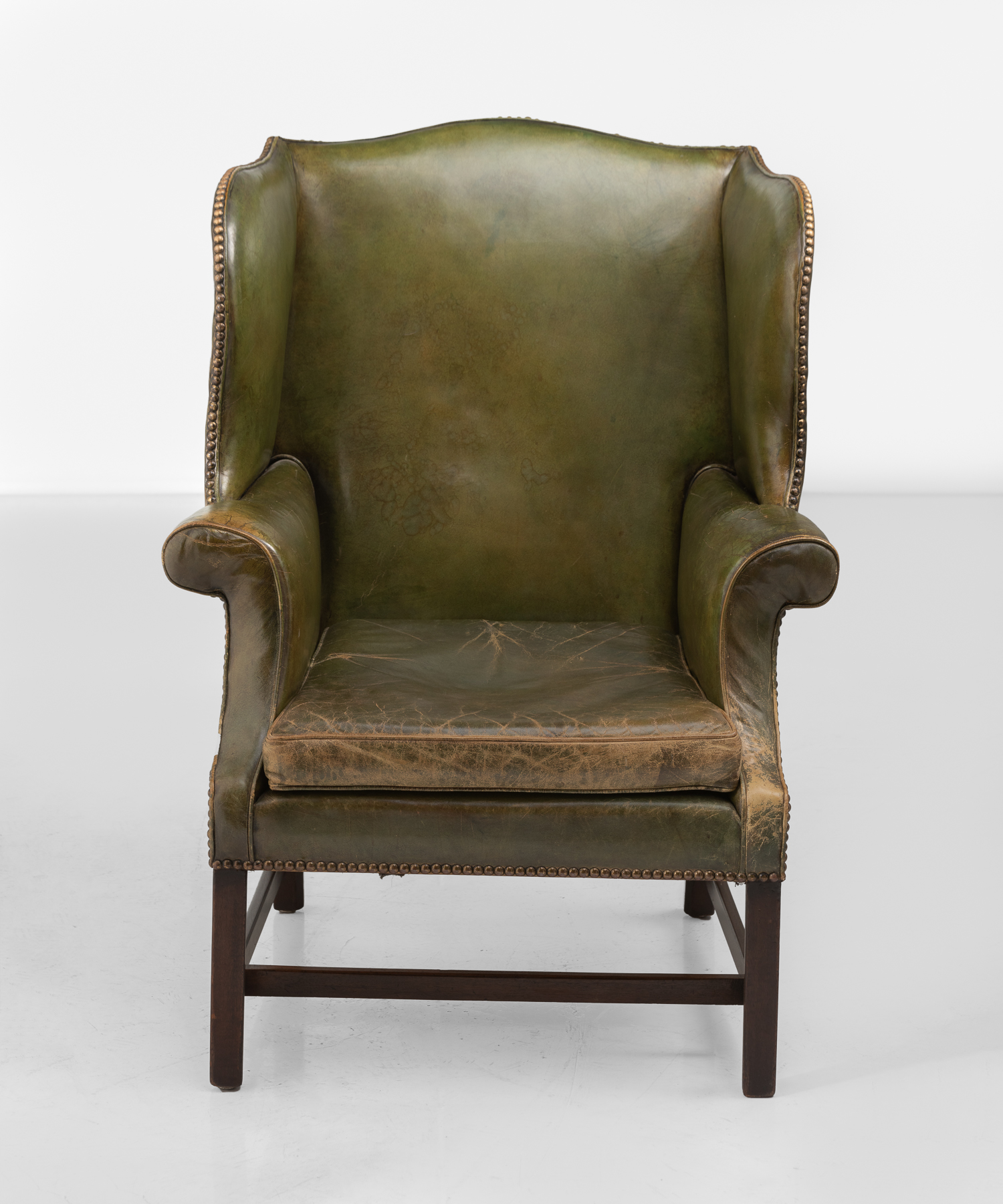 Super Green Leather Wingback Chair Obsolete Camellatalisay Diy Chair Ideas Camellatalisaycom